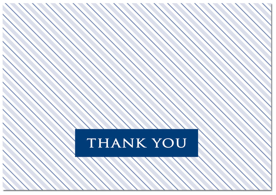 Striped Poplin Thank You Note Card