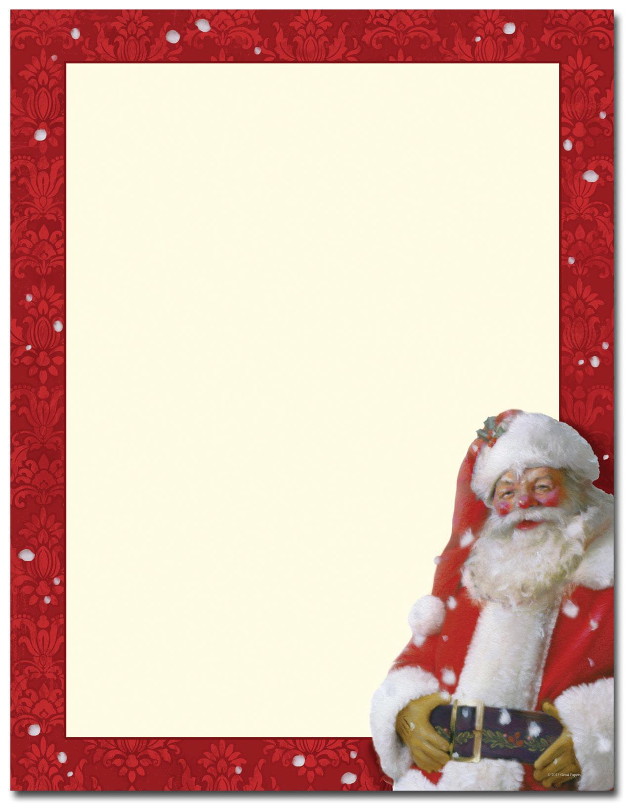 ... santa stationary christmas stationary santa claus signature santa