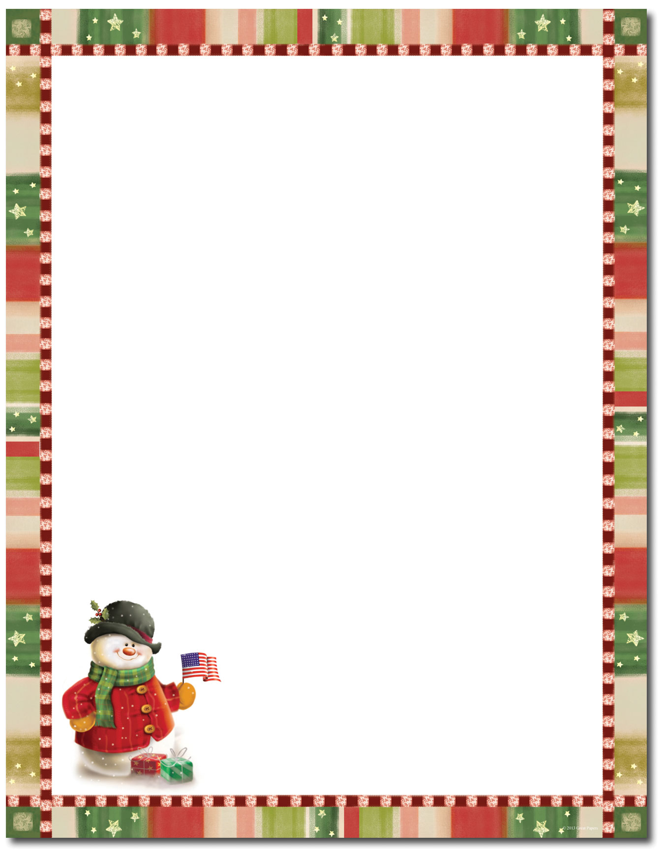 Pics Photos - Stationery Border Of Snowmen And Christmas Icons On ...