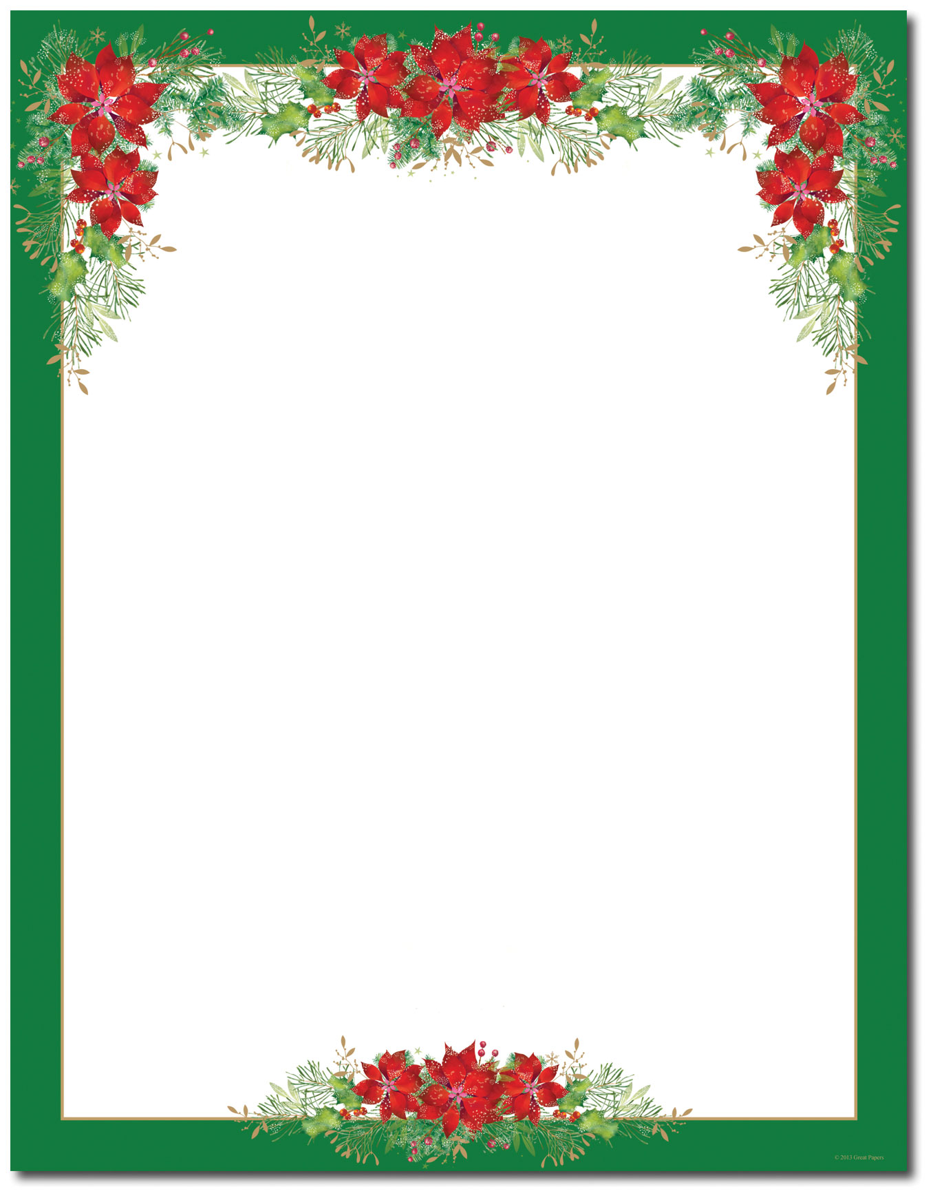 Christmas Stationery Printer Paper Beautiful Christmas