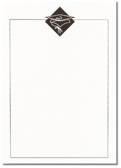 Black Grad Hat Flat Card