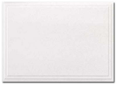 Triple Embossed White Note Cards