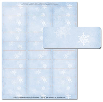 Winter Flakes Address Labels