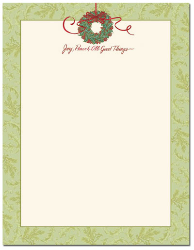 Christmas Stationery Printer Paper | Beautiful Christmas Letterhead