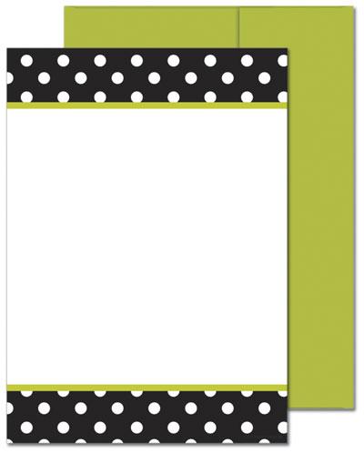 Black & White Dots Flat Card