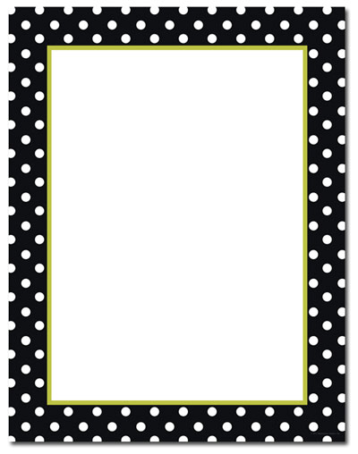 Black & White Dots Letterhead