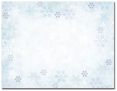 Blue Flakes Post Cards