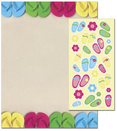Bright Flip Flops Letterhead - 25 pack