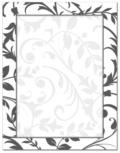 Black & White Vines Letterhead