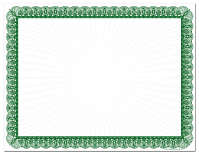 Green Value Certificates - 100 Pack