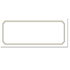 Gold Border Envelopes
