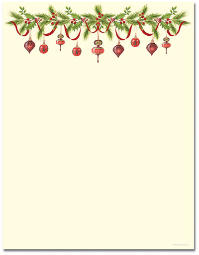 Grandma's Ornaments Letterhead - 100 pack