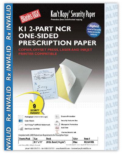 2-Part Security Prescription Paper