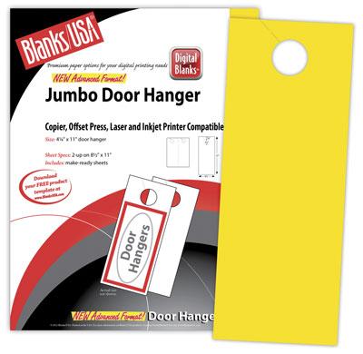 Jumbo Door Hangers, Brights