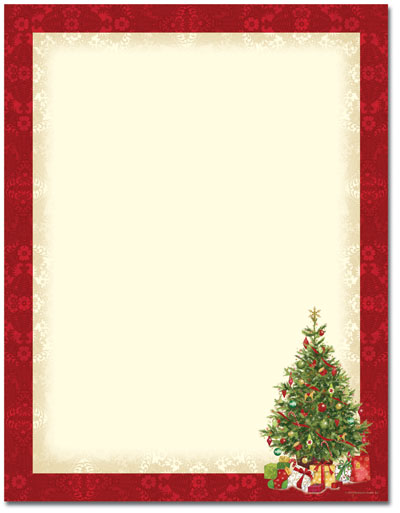 Christmas stationery printer paper beautiful christmas letterhead for Holiday stationary templates free