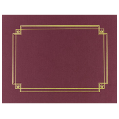 Linen Cert. Cover Burgundy