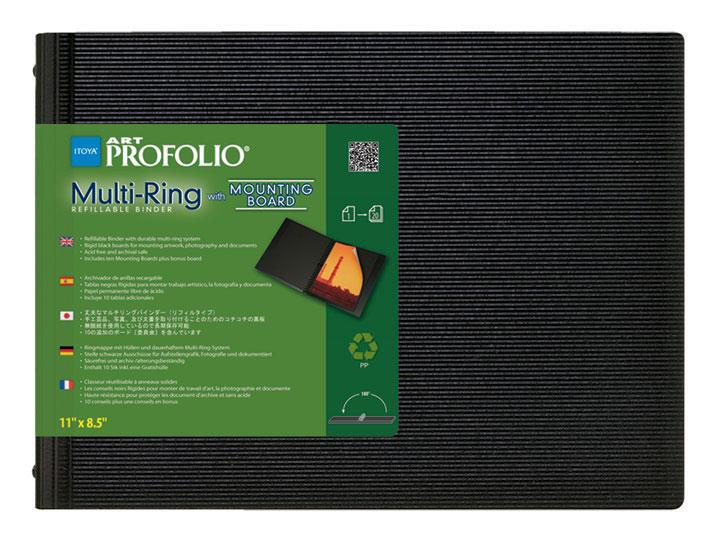 Multi-Ring Binder with Mounting Board, Horizontal