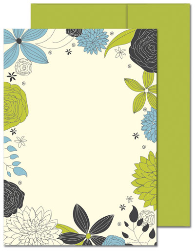 Outline Foliage Flat Cards