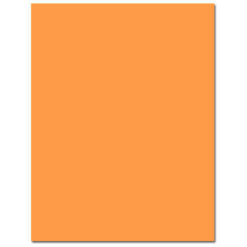 Orange Fizz Cardstock