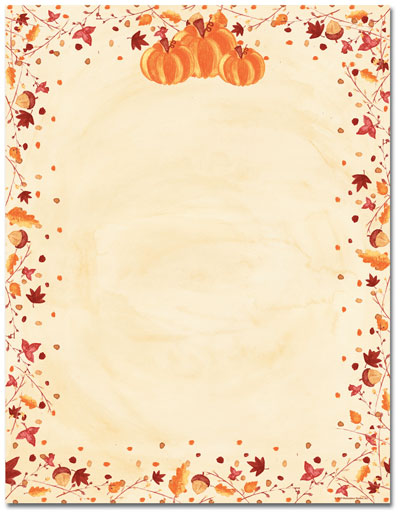 Painted Pumpkins Letterhead