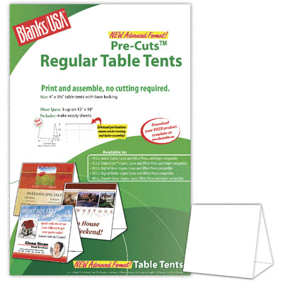 Regular Table Tents